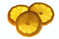 Lemons. Yellow Lemons with white background Royalty Free Stock Image