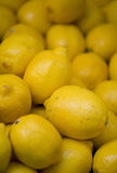 Lemons. On a market stool Stock Photography