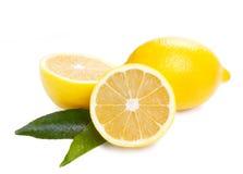 Lemons. Ripe lemons on white background Stock Photos