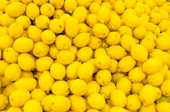 Lemons. Colorful Display Of Lemons In A Market Stock Photos