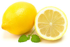 Lemons. In a white background Stock Image