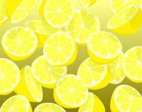 Lemons. Editable vector illustration of falling sliced lemons Royalty Free Stock Image