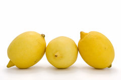Lemons. Ripe lemons on white background. Clipping path incl Royalty Free Stock Image