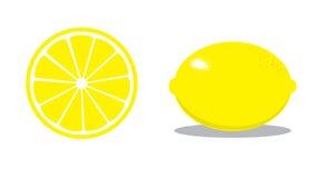 Lemons. Whole and half lemons Royalty Free Stock Image
