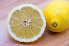 Lemons. Yellow lemons on the table Stock Photography