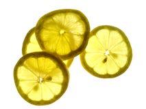 Lemons. Yellow transparent lemons Royalty Free Stock Photo