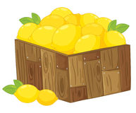 Lemons. Illustration of a crate of lemons Royalty Free Stock Photography