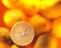 Lemons. Lots of lemons on a background Royalty Free Stock Photo