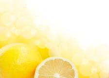 Lemons background stock photo