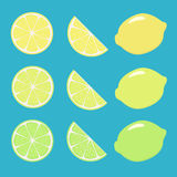 Lemons background Stock Photos