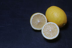 Lemons on  board Stock Photos