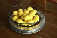 Lemons in bowl Royalty Free Stock Image