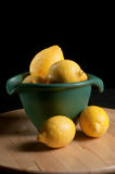 Lemons and Bowl Stock Photos