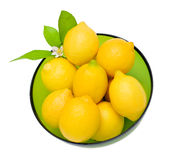 Lemons in a bowl Royalty Free Stock Images
