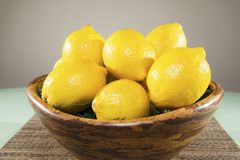 Lemons in a Bowl Stock Image