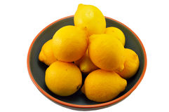 Lemons in a bowl Stock Photos