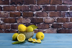 Lemons in a Bowl Royalty Free Stock Photo