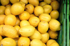 Lemons in a box Stock Photo