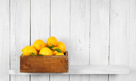 Lemons in a box Royalty Free Stock Images