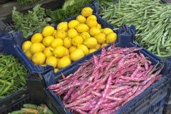 Lemons And Bush Beans Stock Photos