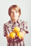 Lemons child Royalty Free Stock Photography