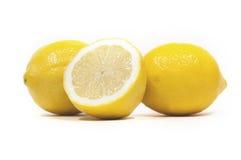 Lemons. Close up of lemons isolated over white Stock Photography