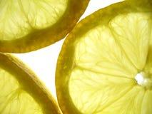Lemons closeup. Transparent lemons closeup Stock Photos