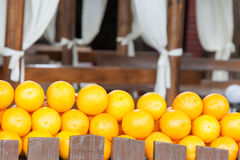 Lemons on a counter of shop Royalty Free Stock Photos