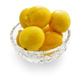 Lemons in crystal bowl Stock Image