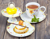 Lemons delicious cakes Stock Images