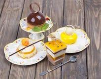 Lemons delicious chocolate cake Stock Photo