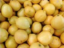 Lemons. Detail of lemons in the market Royalty Free Stock Photography