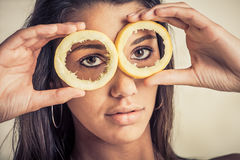 Lemons or eyes Royalty Free Stock Images