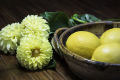 Lemons and Flowers  Royalty Free Stock Images