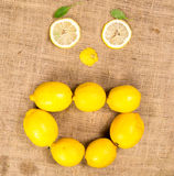 Lemons forming a funny face Royalty Free Stock Photos