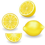 Lemons, Four views Stock Photo