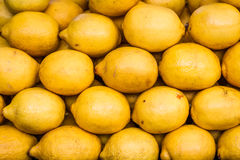 Lemons in Fruit Market Royalty Free Stock Image