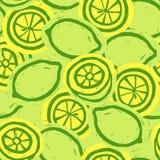 Lemons. Fruits background. Citrus pattern. Vector fruits stock images