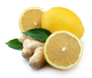 Lemons and ginger royalty free stock image