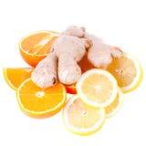 Lemons and ginger Royalty Free Stock Image