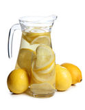 Lemons in glass Stock Photography