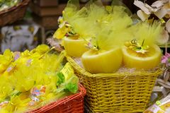 Lemons and Grapefruits in Sorrento. Wrapped Lemons and Grapefruits in Sorrento Market royalty free stock image