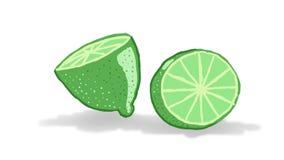 Lemons. Green lemons on white background Stock Photo