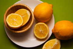 Lemons on green Royalty Free Stock Images