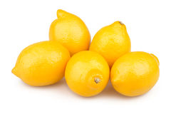 Lemons group Royalty Free Stock Image