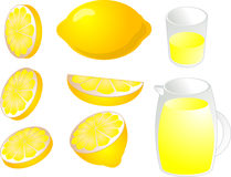 Lemons illustration Royalty Free Stock Photo