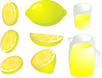 Lemons illustration Royalty Free Stock Images