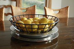Free Lemons In A Wire Basket Stock Photo - 15816050