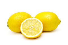 Lemons isolated Stock Photos