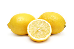 Lemons isolated Stock Image